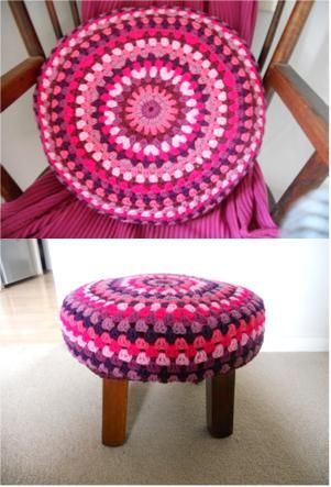 Crochet Pattern Granny Stripe Round Cushion Great Share Thanks So