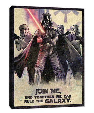 Look at this #zulilyfind! Star Wars 'Rule the Galaxy' Wrapped Canvas #zulilyfinds