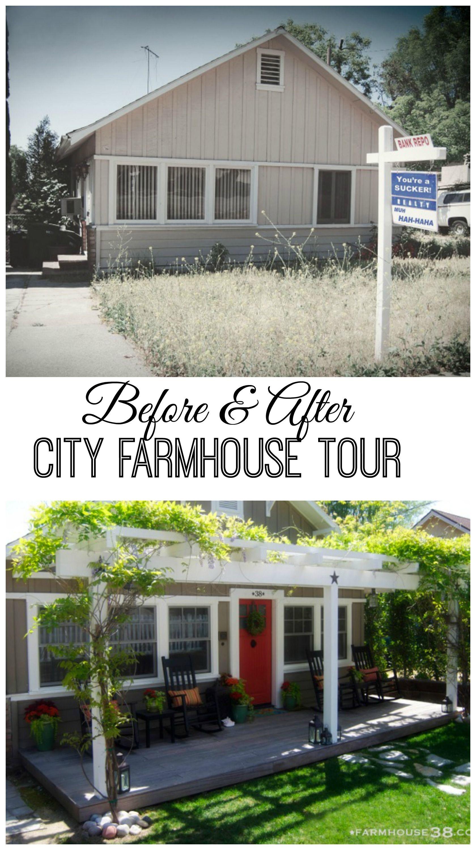 Faux Farmhouse fixer upper in the city house tour   Vorher nachher ...