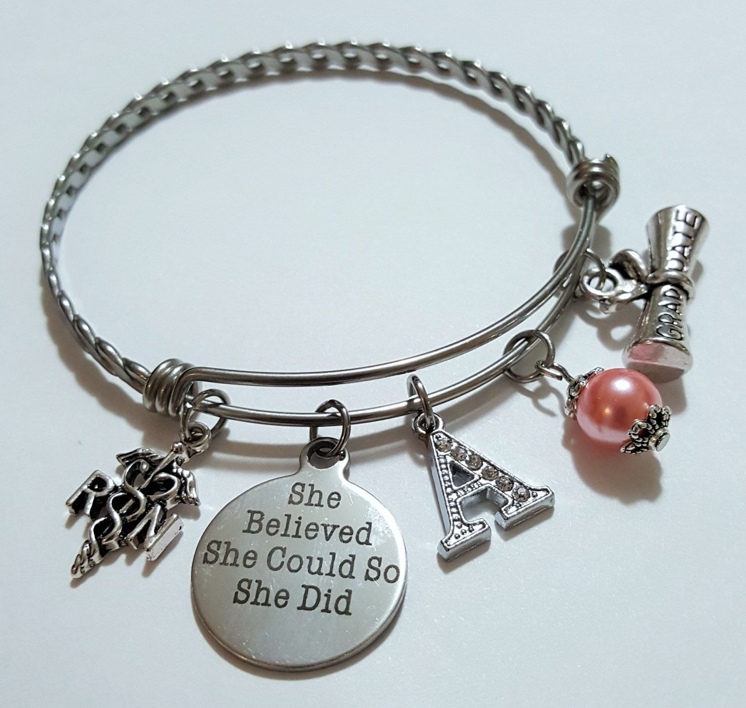 dream products quotes personalized custom tone image silver every of stamps wish for begins her inspirational a dandelion product with bracelet charm graduation