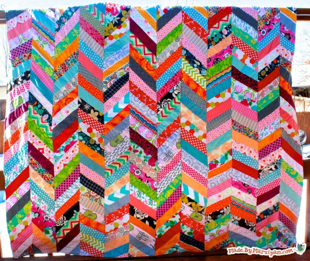 QAYG Chevron Quilt Tutorial: Made By Marzipan | Sewing | Pinterest ... : chevron quilt patterns - Adamdwight.com