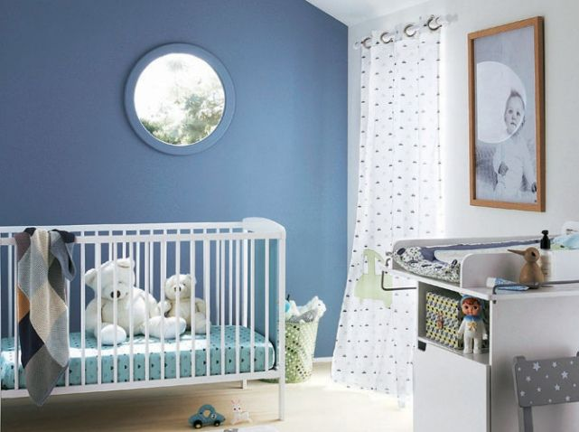 Chambre bebe mur bleu | Children\'s dream room | Pinterest | Murs ...