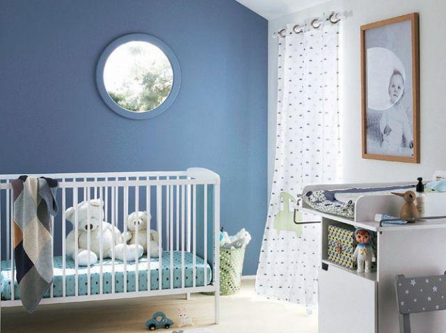 Chambre de b b 25 id es qui changent du bleu pour un gar on b b baby deco kids - Couleur mur chambre bebe ...