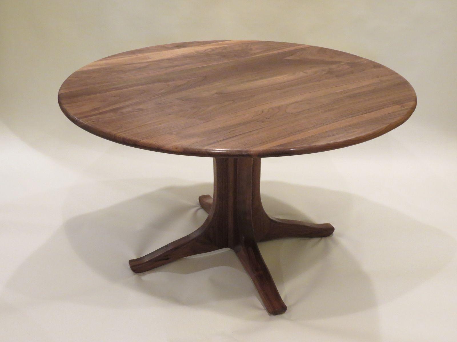 Walnut Pedestal Dining Table