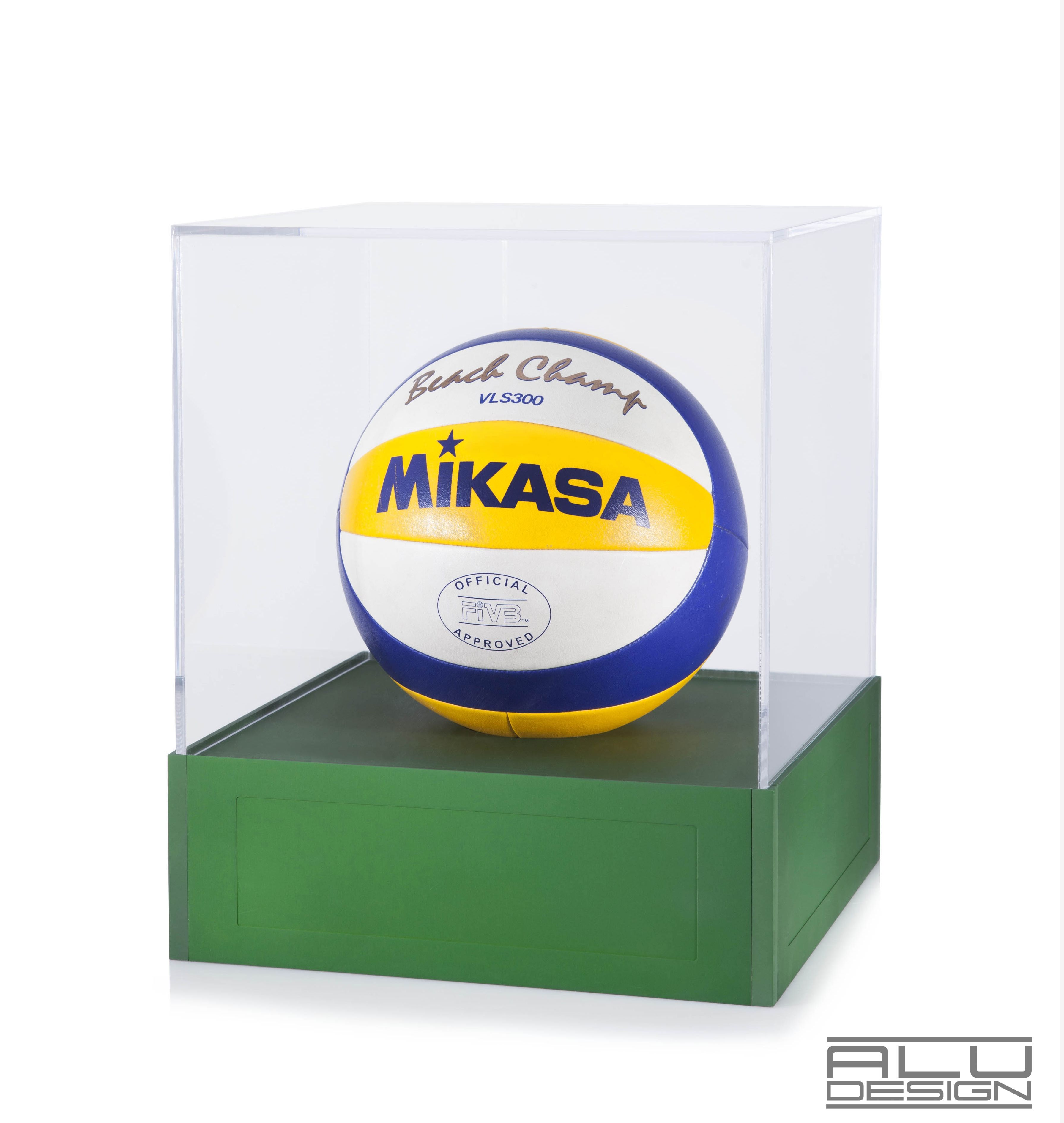 Luxury Beach Volleyball Display Case Flawless Design For Your Exclusive Collection Cnc Machined Anodized Aluminum Green Avail Design Display Case Trophy Case