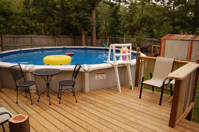 12 Foot Round Above Ground Pool Swimming Pool Decks Backyard Pool Landscaping Backyard Pool