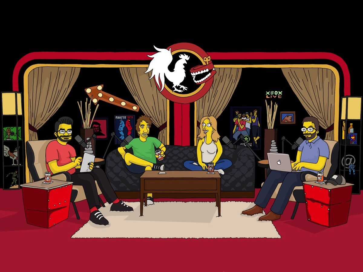 Achievment Hunter Reddit How To Conquer With Endless Thread Artomix C1 I Drew The Whole Podcast Crew Simpsons Style You Guys Liked Gus