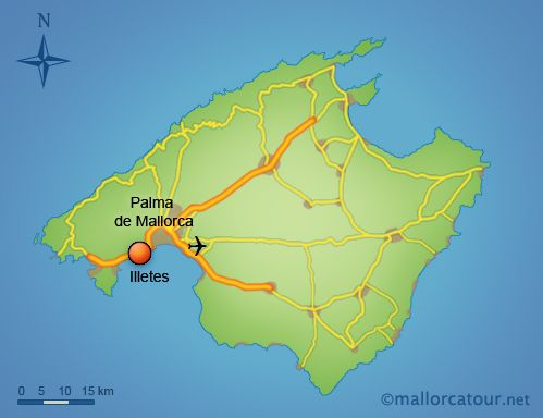 Map of Mallorca, the bigger island I served on. Most of the Elders ...