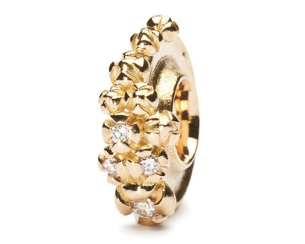 Trollbeads Gallery - Gold Bougainvillea With Diamonds, $1,155.00 (http://www.trollbeadsgallery.com/gold-bougainvillea-with-diamonds/)