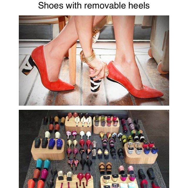 d49b38521db Designer Tanya Heath has come up with special shoes that can be matched to  a whole range of different heels.