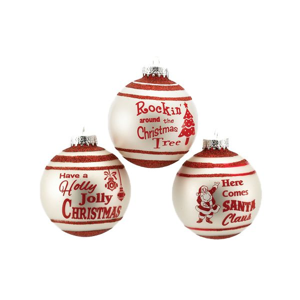The Jolly Christmas Shop - Kurt Adler 80MM Matte Ivory Banded Ball