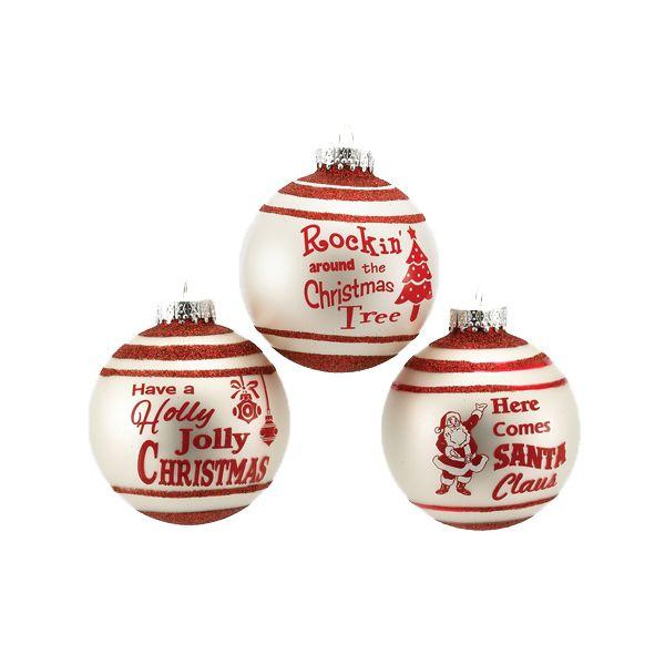 The Jolly Christmas Shop - Kurt Adler 80MM Matte Ivory Banded Ball