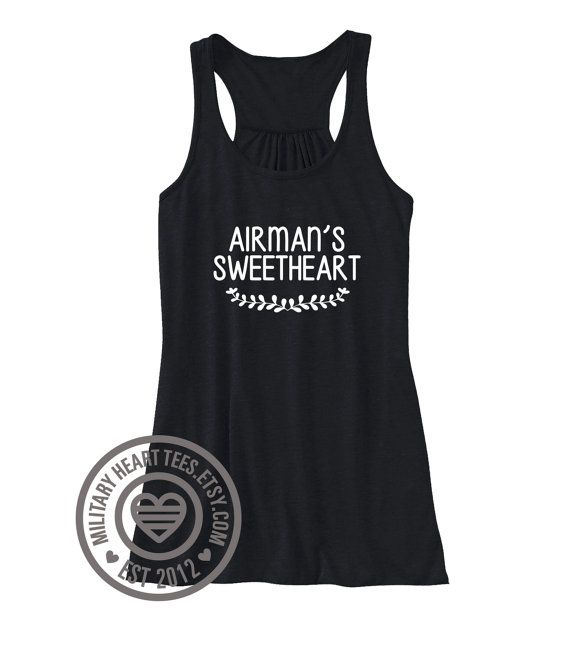 Airman's Sweetheart Custom Air Force by MilitaryHeartTees on Etsy