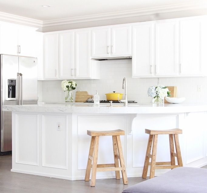Affordable White Kitchen Remodel   Lacquered Cabinets White No Pigment, Ikea  Hardware, 3