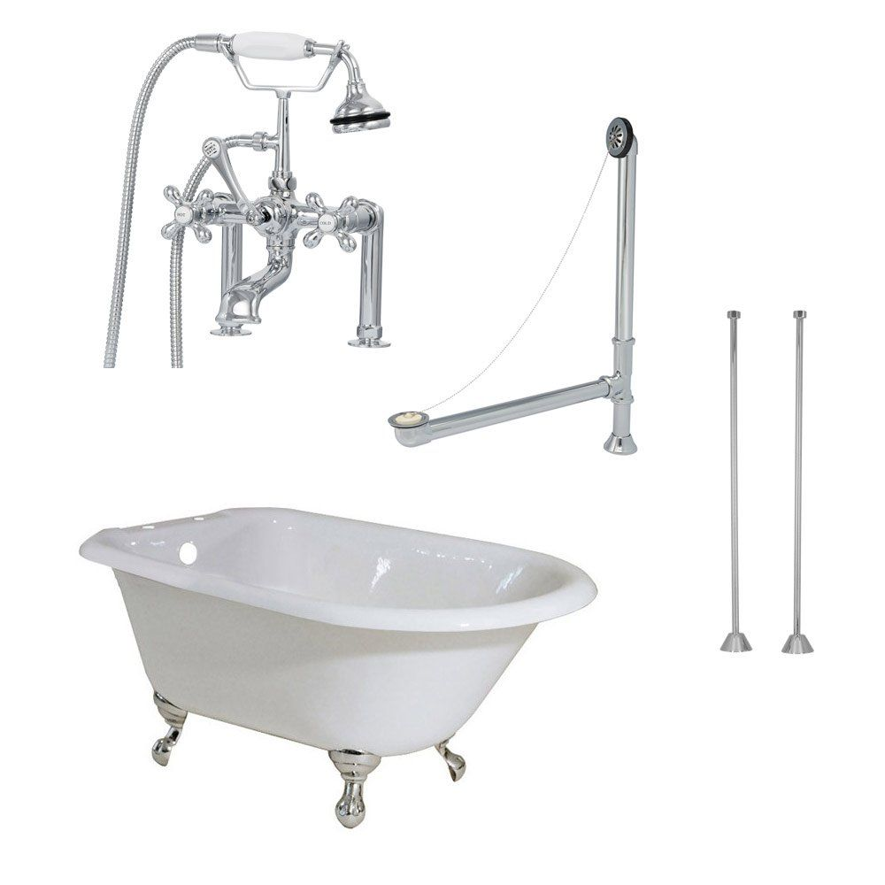 Norfolk 48 Inch Cast Iron Classic Clawfoot Tub Package Cast Iron