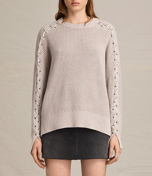 Women's Aria Laced Jumper (NUDE PINK) -