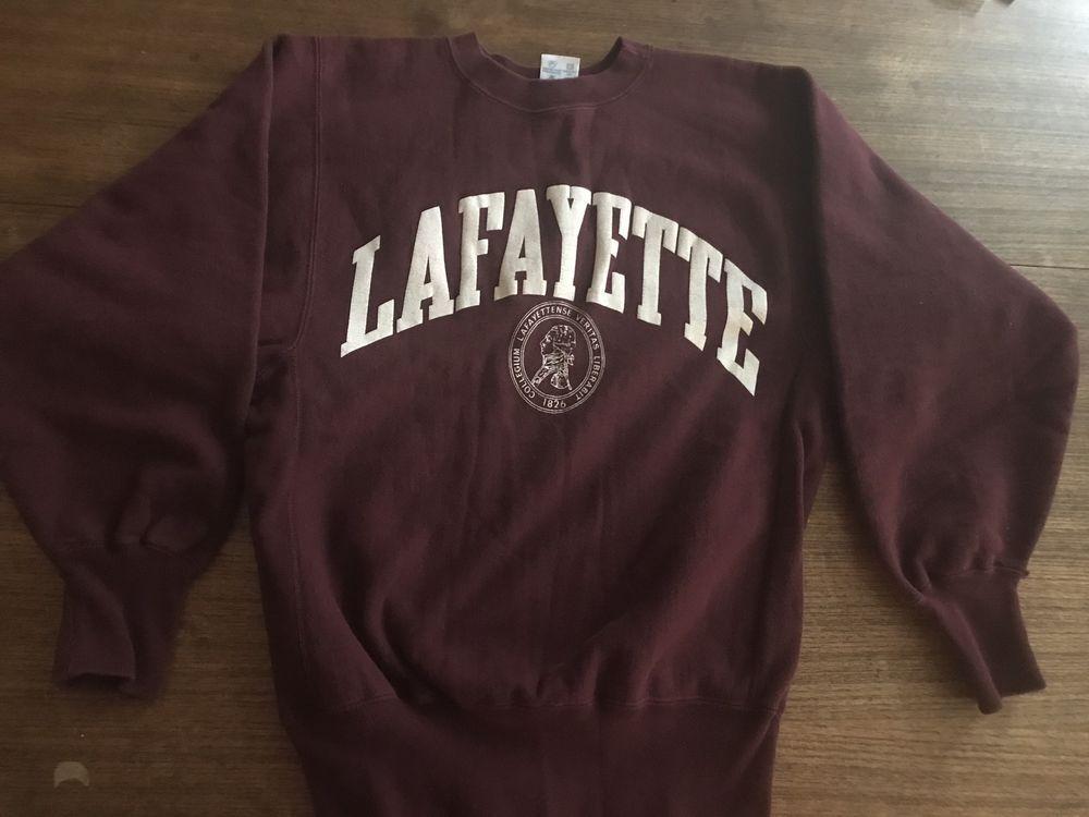 21ff15f5 Vintage 1980s 90's Champion Reverse Weave Lafayette College Sweatshirt Rare  Mint #Champion #SweatshirtCrew