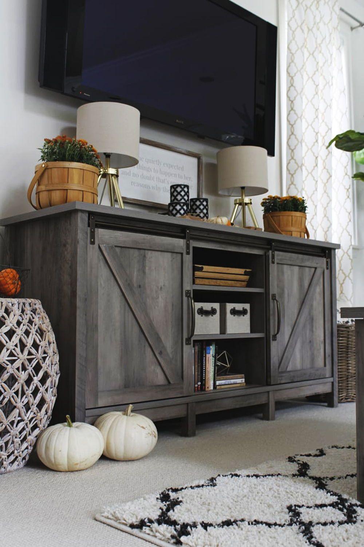 Home Farmhouse tv stand, Home, Decor
