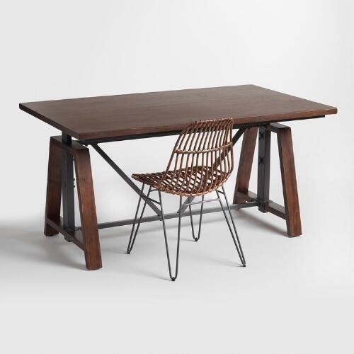 Wood Braylen Adjustable Height Work Table | World Market