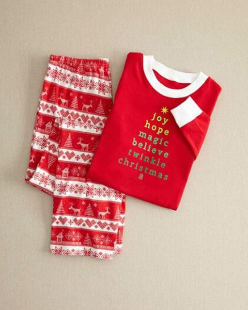 Family Christmas Pajamas Matching Mother Daughter Clothes 2017