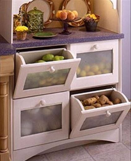 Drawers For Potatoes Onions And Other Veggies That Should Be Kept Separate From One Another Vegetable Drawer Diy Kitchen Storage Kitchen Organization