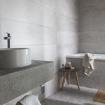 Carrelage sol et mur gris cendré, Harlem l.30 x L.120 cm | Déco ...