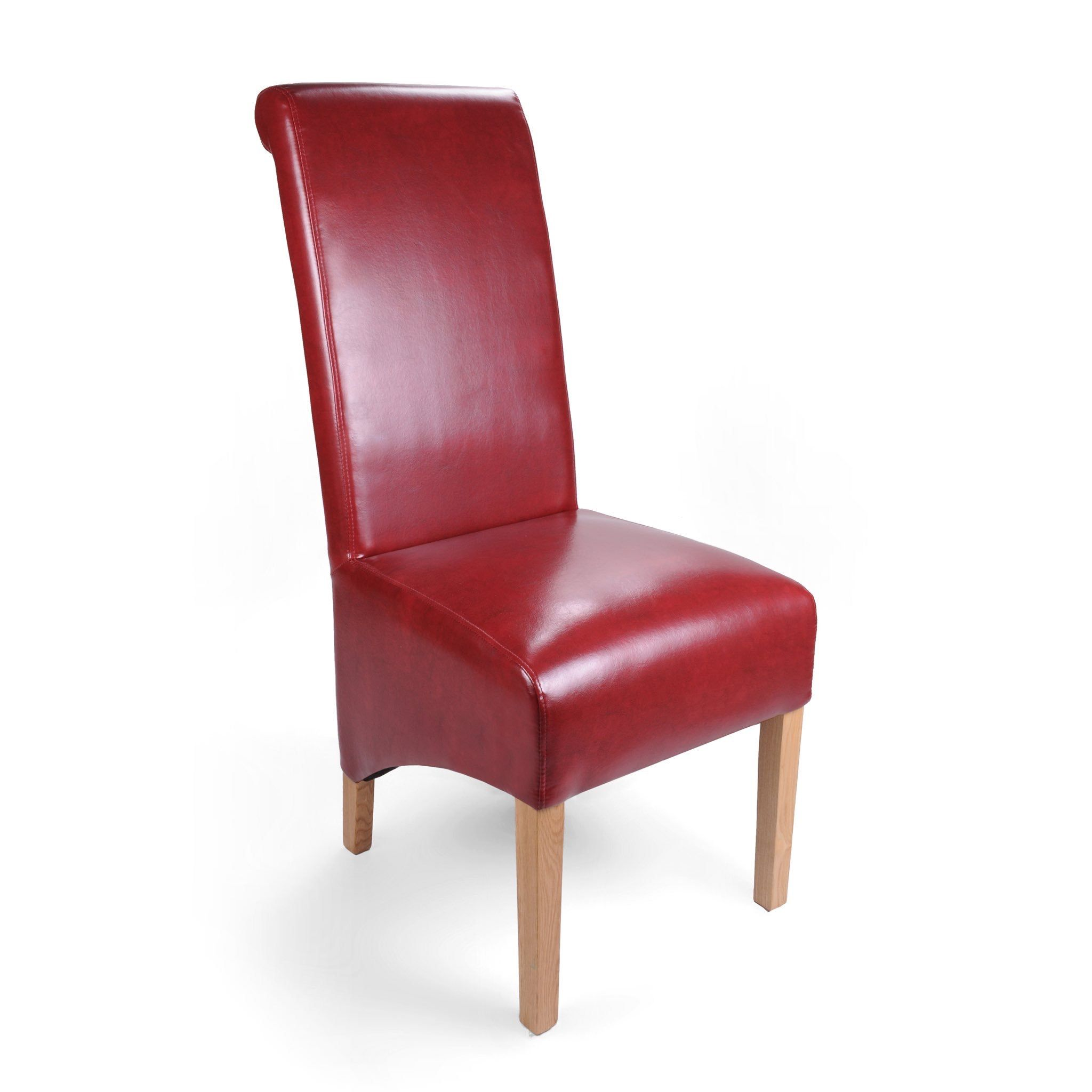 The Krista Burgundy Red Leather Chairs Are A Beautifully Styled And A Very High Quality Dining Chair The Bonded Lea Chair Dining Chairs Home Decor