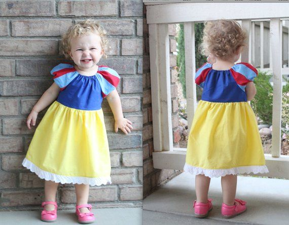 Snow White Dress beautiful inspired peasant dress 4t 8