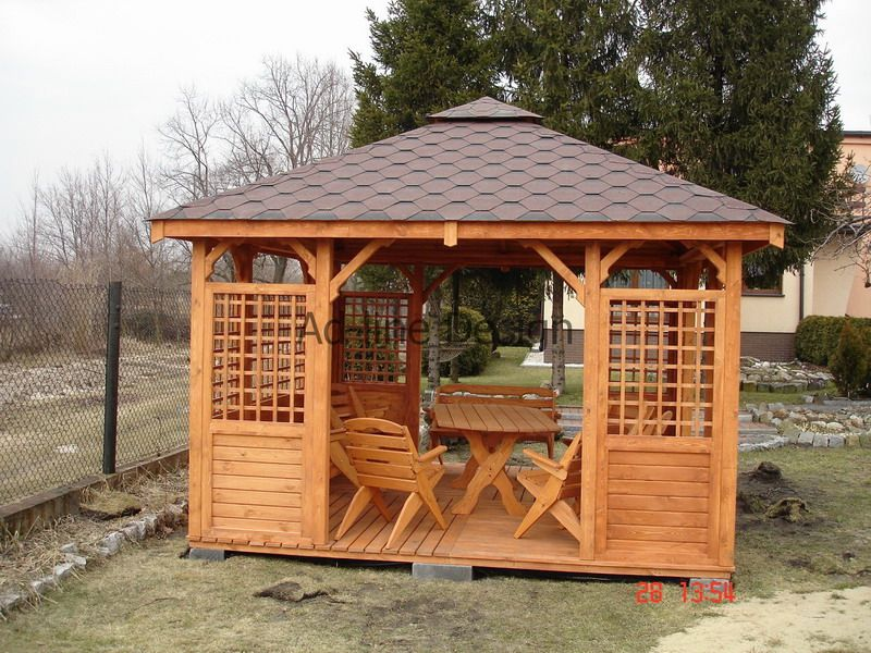 Altana Ogrodowa 3 5x3 5 Domek Promocja Zimowa 5713967643 Oficjalne Archiwum Allegro Gazebo Pergola Garden Structures
