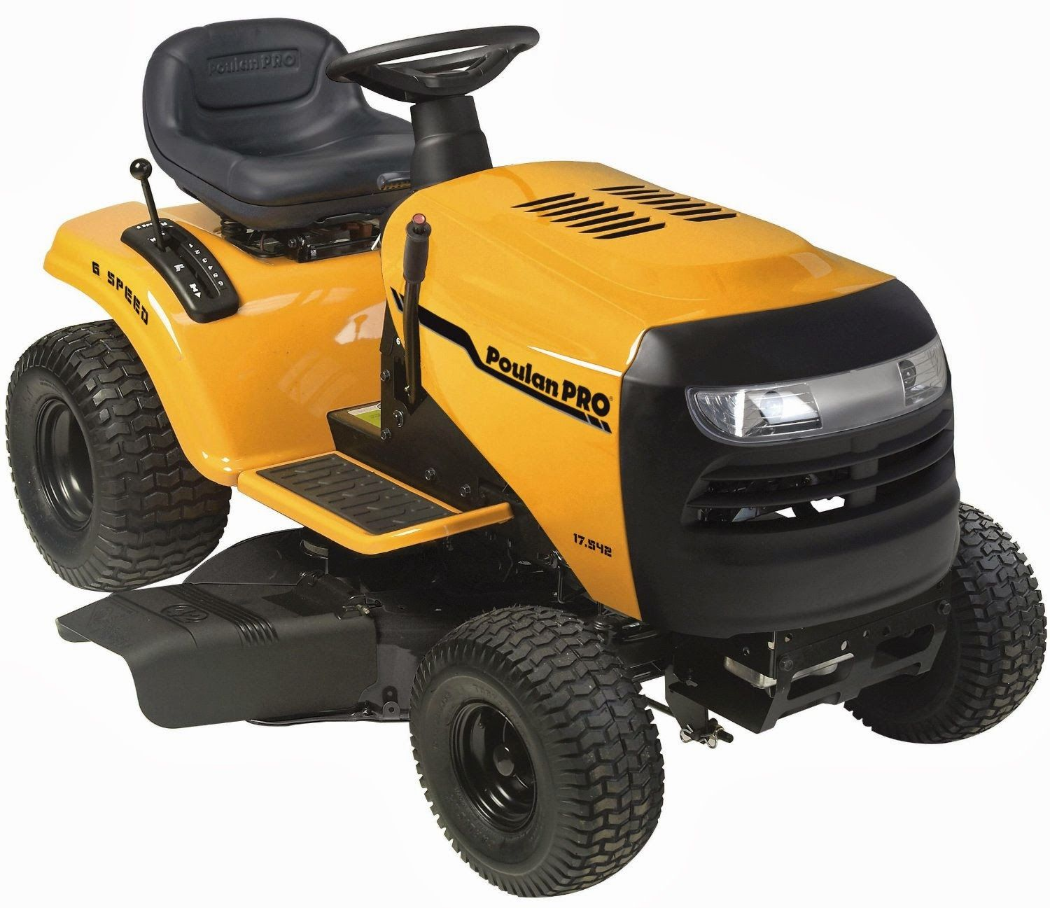Poulan Pro Lawn Mower Reviews Tractor Pb17542lt 17 5 Hp 6 Sd
