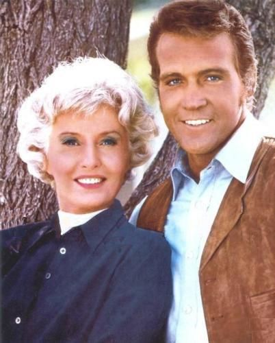 """Barbara Stanwyck (Victoria) and Lee Majors (Heath) in TV show """"The ..."""