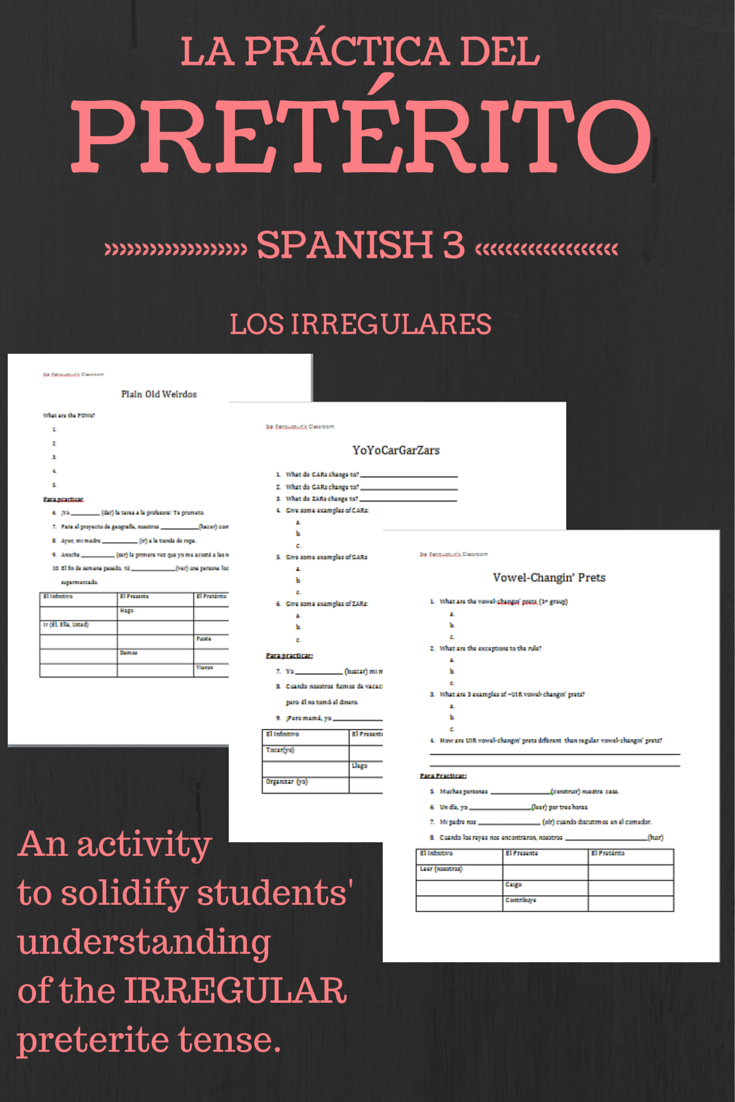 worksheet Conditional Tense Spanish Practice Worksheets irregular preterite practice activities sentences worksheets and spanish verb tenses eight to help students solidify their understanding of verbs it has