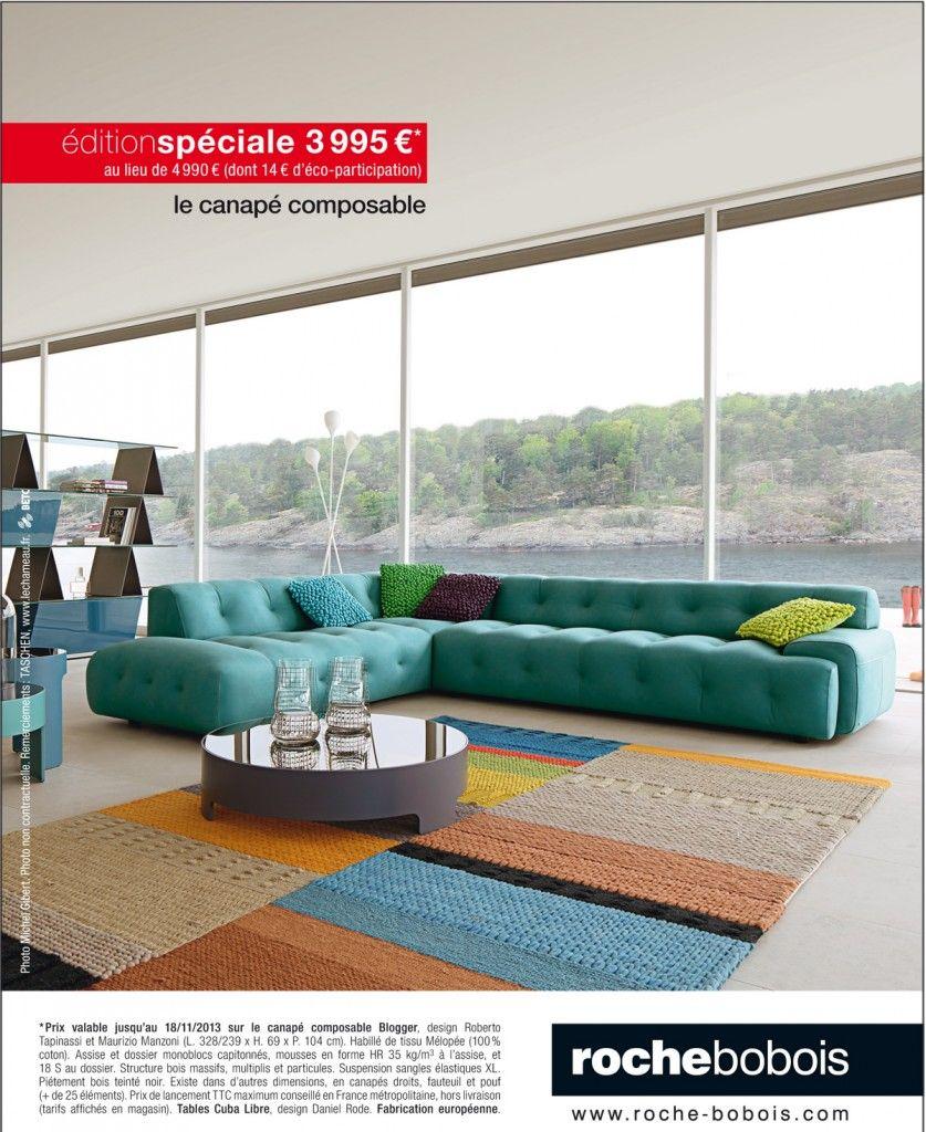 le canap composable blogger chez roche bobois village. Black Bedroom Furniture Sets. Home Design Ideas