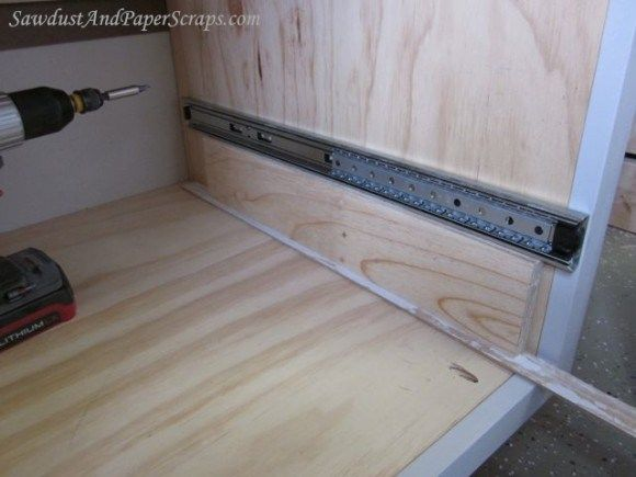 Installing Drawer Glides 3