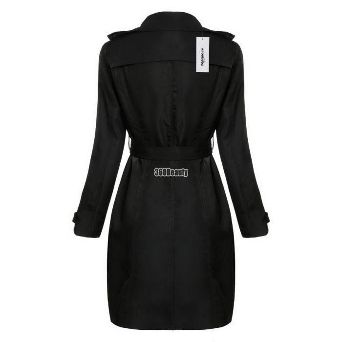 VESTE casual femmes coupe-vent Trench manteau à doubl...