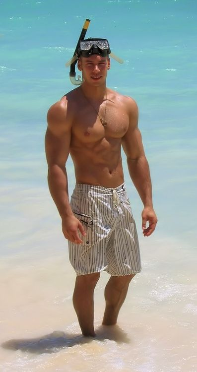 Gay guys on the beach