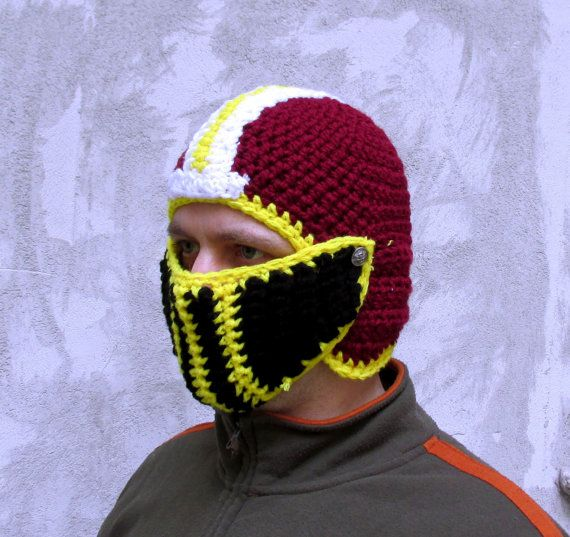 Washington helmet , crochet helmet, football helmet, team hat ...