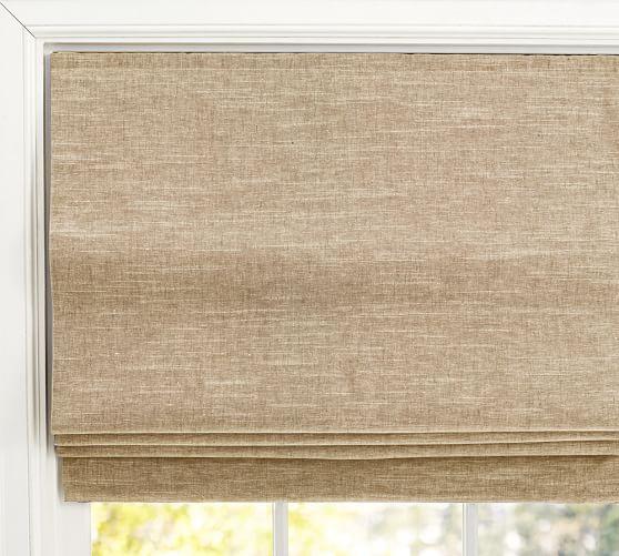 Emery Linen Cotton Cordless Roman Shade 44 X 64