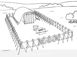 Printable Bible Coloring Pages Building The Tabernacle