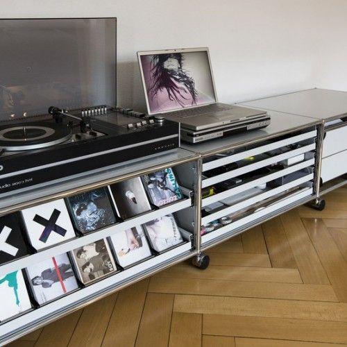 USM HiFi CD Rack Turntables Pinterest Interiors, Living rooms