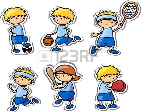 Iconos De Dibujos Animados Del Deporte Dibujos Animados Deportes Dibujos