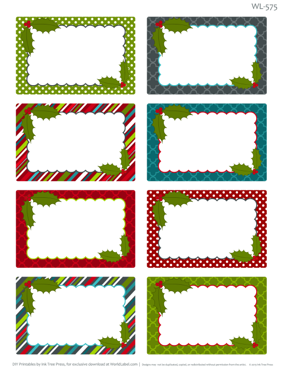 Printable Christmas Labels For Homemade