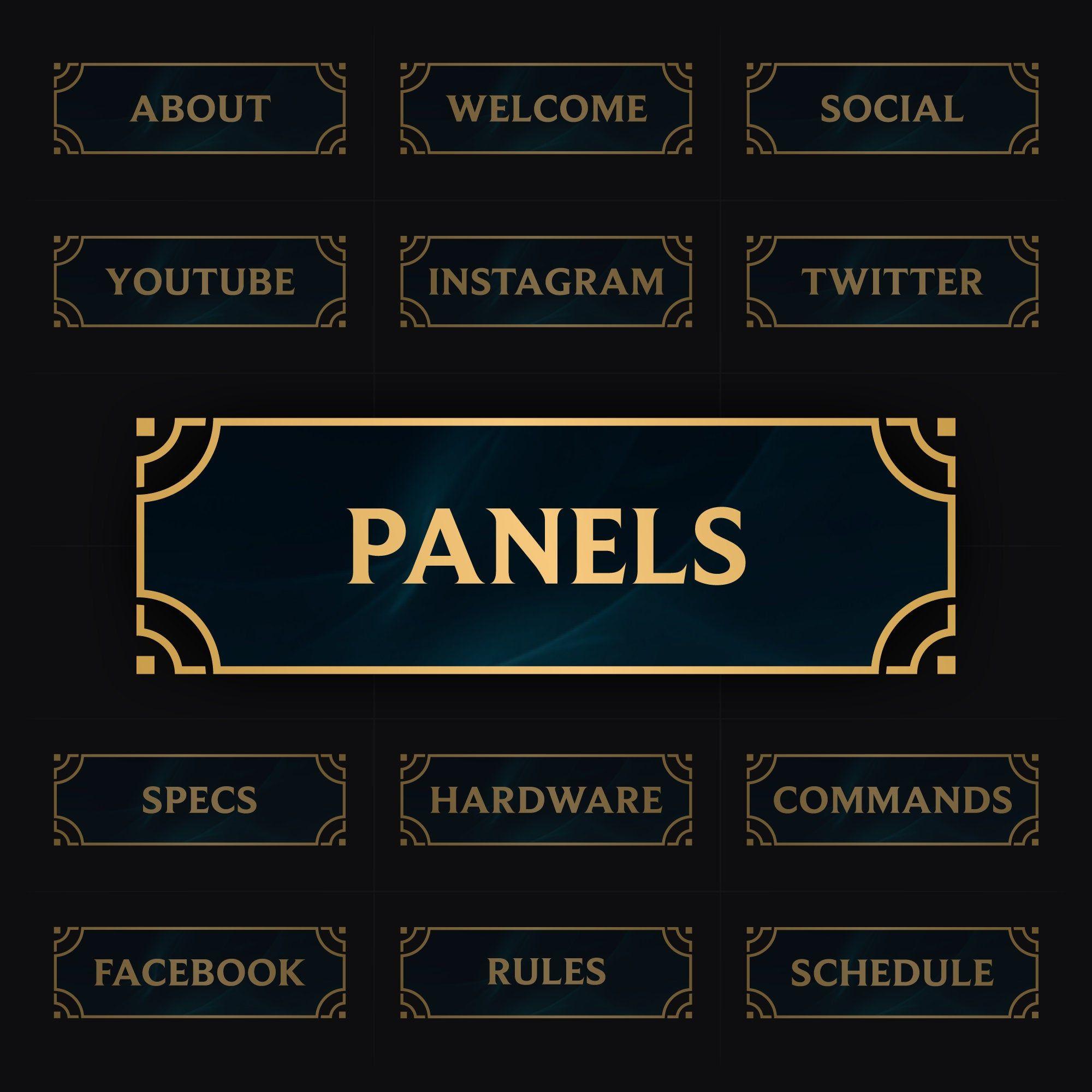 Pin on twitch panels