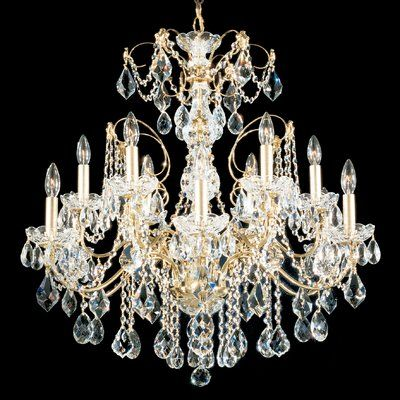 Schonbek Century 12 Light Candle Style Classic Traditional Chandelier Color Etruscan Gold In 2020 Chandelier Lighting Schonbek Chandelier Chandelier