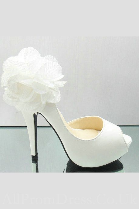 Flower trimmed white heels pretty she said yes pinterest flower trimmed white heels pretty mightylinksfo