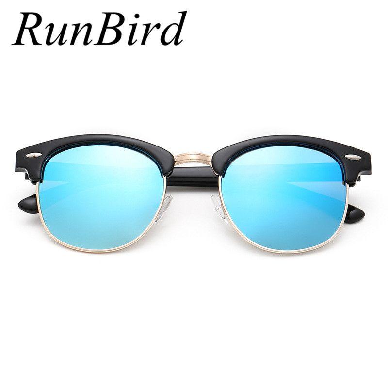 c36da5c2a0a RunBird Brand Designer Unisex Retro Women Sunglasses Polarized Mirror Lens Vintage  Eyewear Accessories Sun Glasses for Men R044  Affiliate