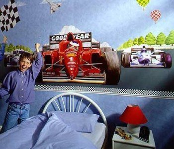 Race Car Create A Wall Mural Large Kit For The Home