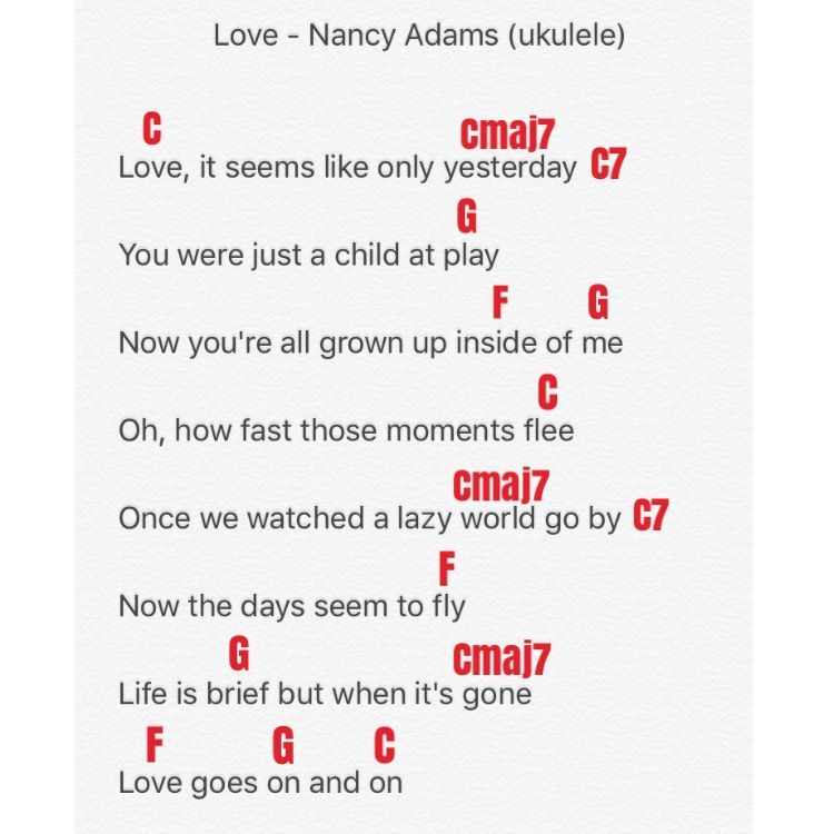 Love By Nancy Adams Disneys Robin Hood Ukulele Chords Easier