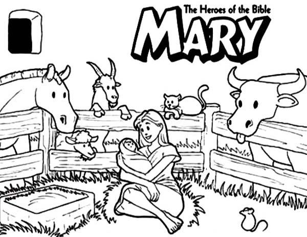 Mary The Bible Heroes Coloring Page - NetArt Bible Coloring Pages, Bible  Coloring, Bible Heroes