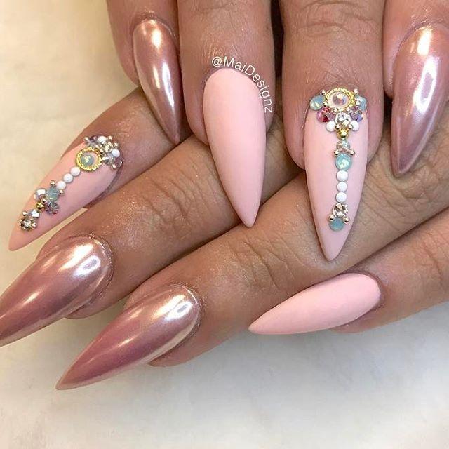 Pinterest:KIANIA | NAILS | Pinterest | Nail nail, Long nail art and ...
